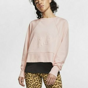 NWT Nike Dry Fleece Get fit lux crew sweatshirt